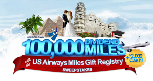 US Airways Miles Gift Registry Sweepstakes